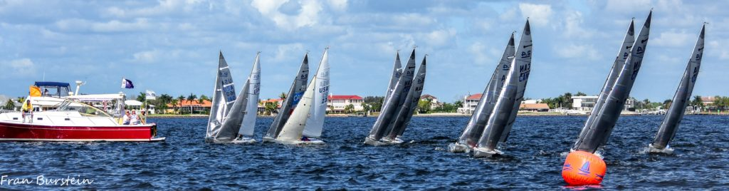 2.4mR Sailboats at starting line