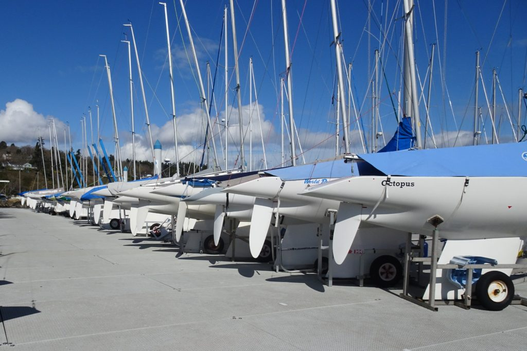 2.4mR Sailboats at Royal Victoria Yacht Club